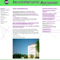 Screenshot Anliegerinitiative Marthashof (AIM)
