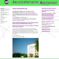Screenshot Anliegerinitiative Marthashof (AIM)